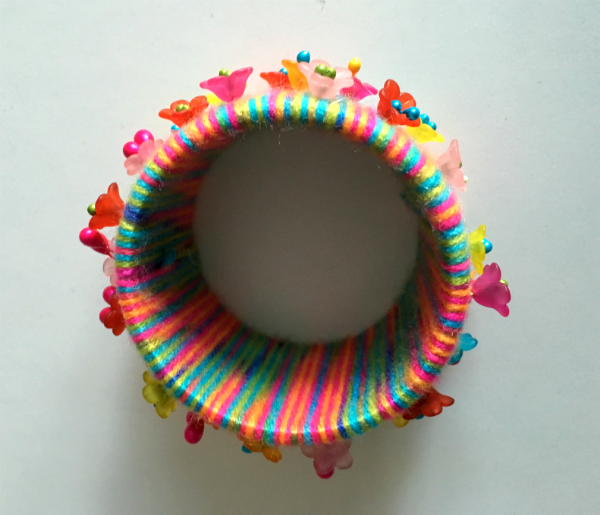 colourful wool bangle
