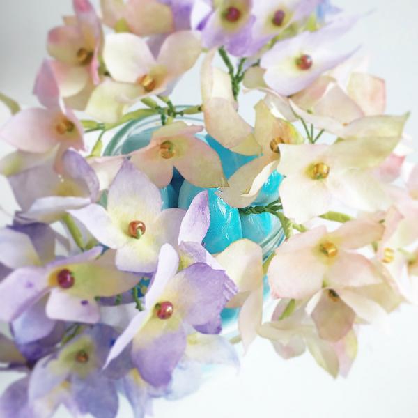 DIY hydrangea flower