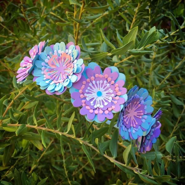 лесна за правене диадема от хартиени цветчета