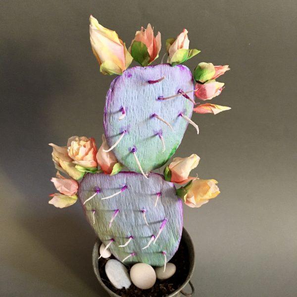 как да изработим кактус от хартия how to make crepe paper cactus - step by step tutorial